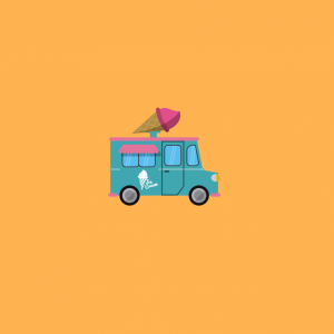 Food truck drawing