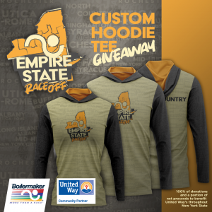 Samples of the custom hoodie and T-shirt for the Empire State Race-Off